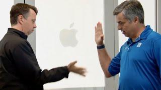 Apple October 2014 Special Event: Handshake gag