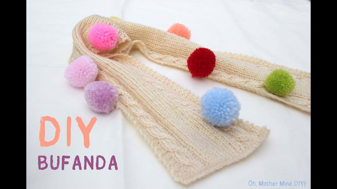DIY Como hacer bufanda de niño o niña (patrón gratis) - YouTube