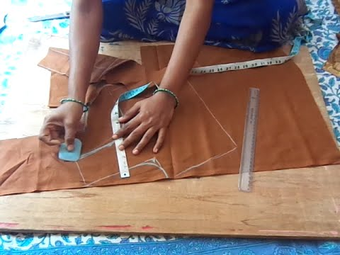 Lining design blouse cutting in Telugu for Beginners