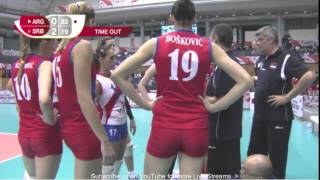 150906 FIVB Women`s World Cup Serbia 3:2 Argentina 720p