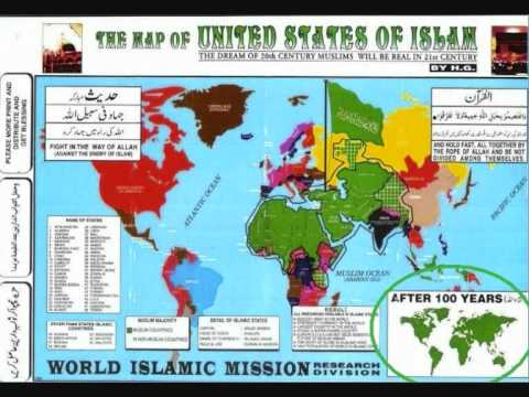 The Map of UNITED STATES OF ISLAM YouTube