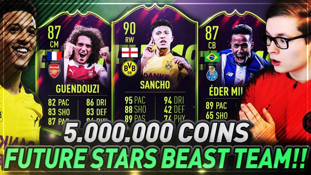 FIFA 19: OMG 5 MILLIONEN FUTURE STARS TEAM! FUTURE STAR SQUAD BUILDER ????????
