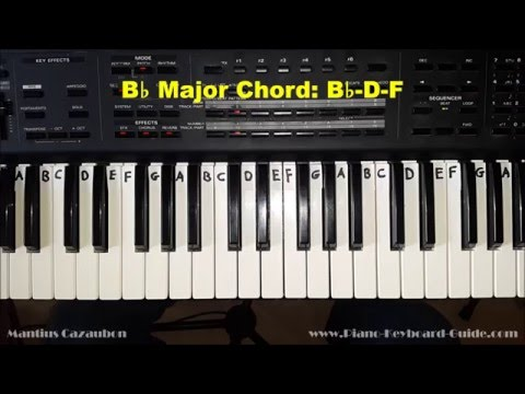How to Play the B Flat Major Chord on Piano - Bb maj