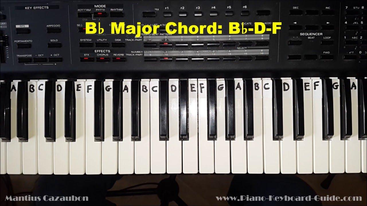 B Flat Chord Piano How to Play the...