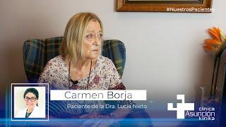 """Carmen Borja: """"Desde el primer momento sentí que tenía conexión con mi doctora, es muy humana"""""""