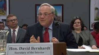 WATCH LIVE: New Interior Secretary David Bernhardt goes before House committee