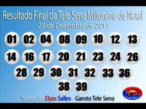 telesena natal 2018 Resultado Final da Tele Sena Milionária de Natal 5º Sorteio 29/12  telesena natal 2018