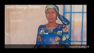 Kusambaza kilio Cha sheda Bulenge Christine Manchester Uk/Congolese