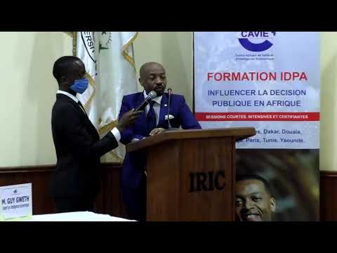 PROSPER HONORE SUGEWE INVITE DU DEPARTEMENT DE L'ECONOMIE  INTERNATIONAL DE L'IRIC