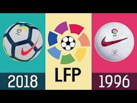 All Spanish league footballs from 1996 to 2018 from Nike
