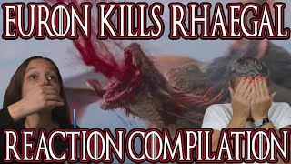 Game Of Thrones Season 8 Episode 4 | Euron Kills Rhaegal Reaction Compilation