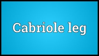 Cabriole Leg Meaning
