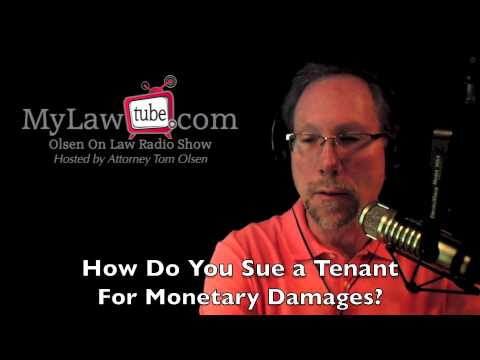 How to sue a tenant for monetary damages — LawTube