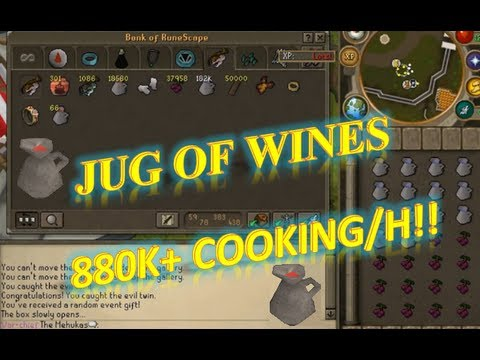 Fastest Cooking Xp/h - Making Jug of Wines [850k+/h]