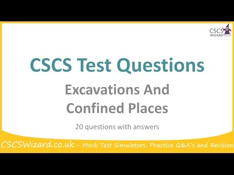 CSCS Test Questions - Excavations And Confined Places - Operatives