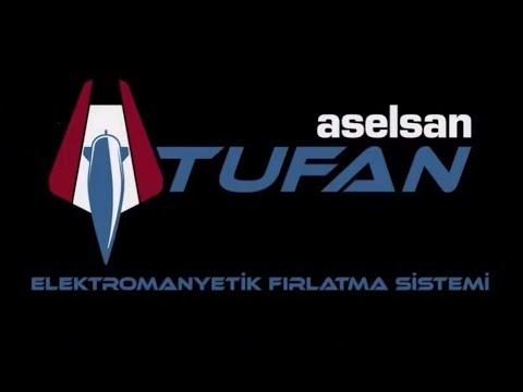 ASELSAN - TUFAN   Elektromanyetik Fırlatma Sistemi Test Atışları [01.06.2018]