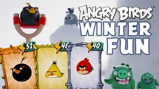 Angry Birds | Fun in the winter with toys!