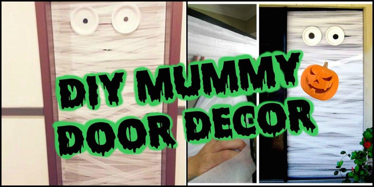 Diy Halloween Door Decor Youtube