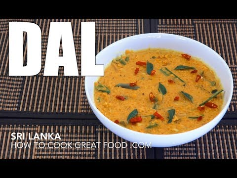 How To make Dhal - Sri Lanka Dal - Dal Curry - Vegan Recipes - Vegan Curry