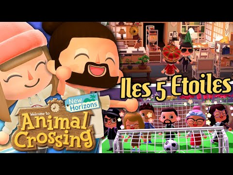 ON VISITE VOS ILES 5 ETOILES #4 | ANIMAL CROSSING NEW HORIZONS EPISODE 47 CO-OP