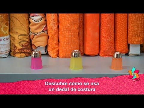 Descubre cómo se usa un dedal de costura
