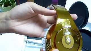 Monster Beats By Dr Dre Colorware Chrome Studio Headphone in Golden