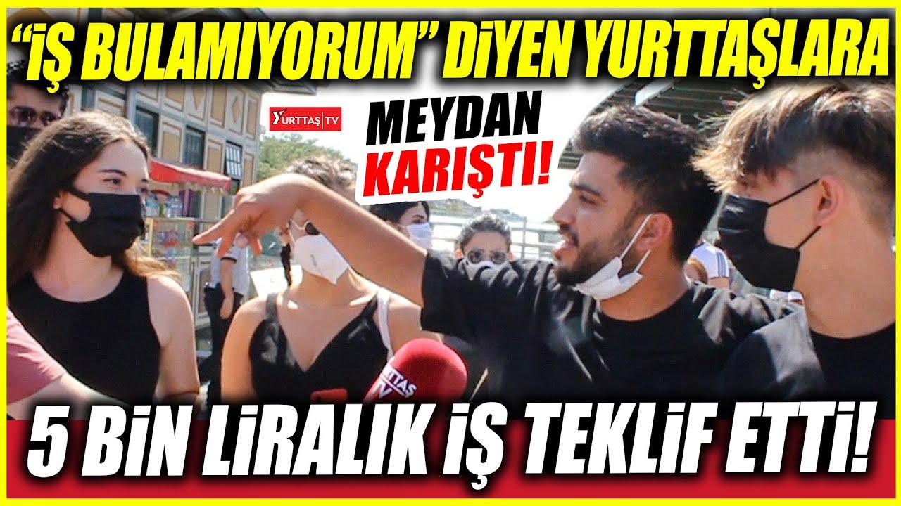 """""""İş bulamıyorum"""" diyen yurttaşlara 5 bin liralık iş teklif etti! Bakırköy meydan karıştı!"""