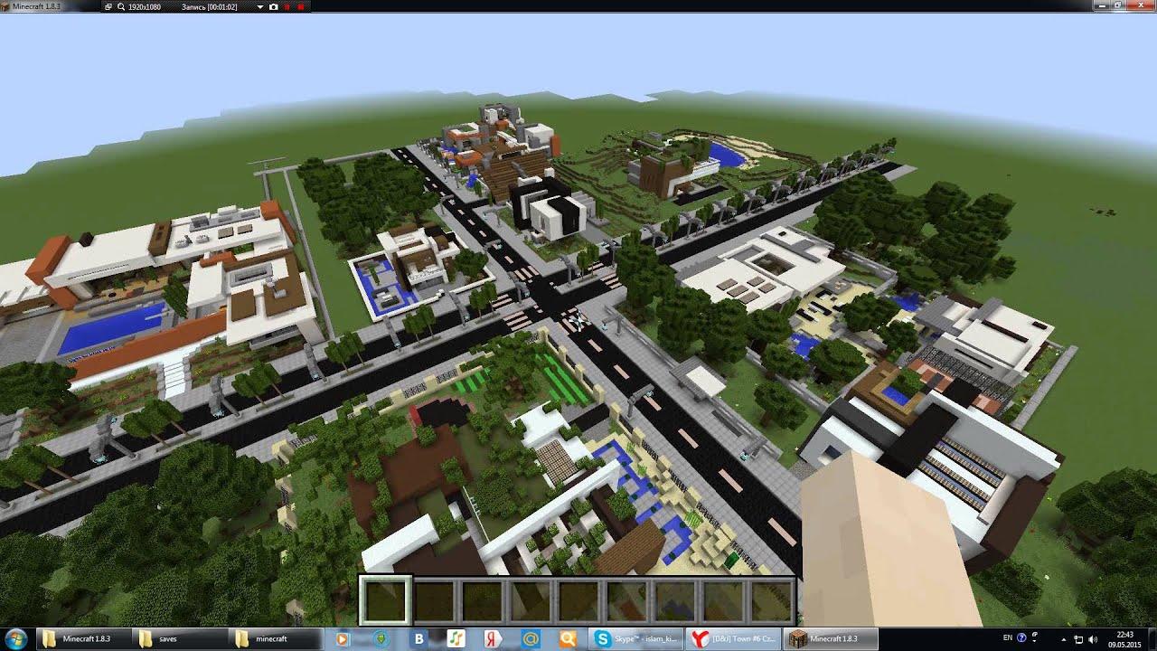 Карта dyltroit city pe для майнкрафт пе 1. 2. 10, 1. 2. 9, 1. 2. 8, 1. 2. 7.