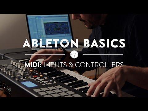 Ableton Basics - Part Four: MIDI Inputs & Controllers