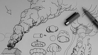 How to draw a rising smoke cloud or explosion cloud