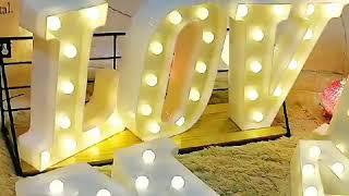 dekoratif led harfler ışıklı