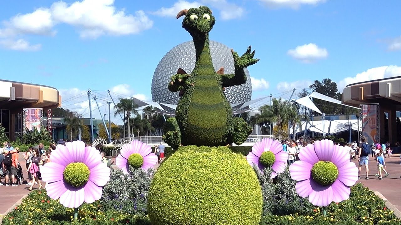 epcot international flower & garden festival 2018 topiary preview including  figment, belle, frozen