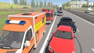Autobahn Police Simulator 2 - Highway Accident! Gameplay 4K