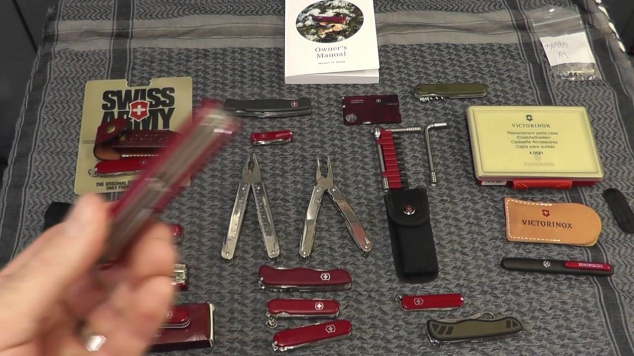 Victorinox Swiss Army Collection Amp New Macgyver Youtube