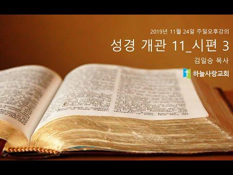 성경개관 11_시편 3