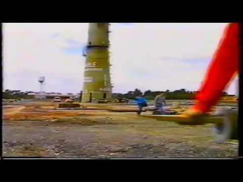 Crib Point chimney stack demolition