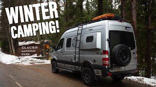 Winter camping begins! | IĎ - Glacier National Park MT