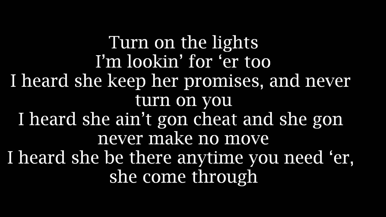 Future - Turn On The Lights ( With Lyrics ) - YouTube