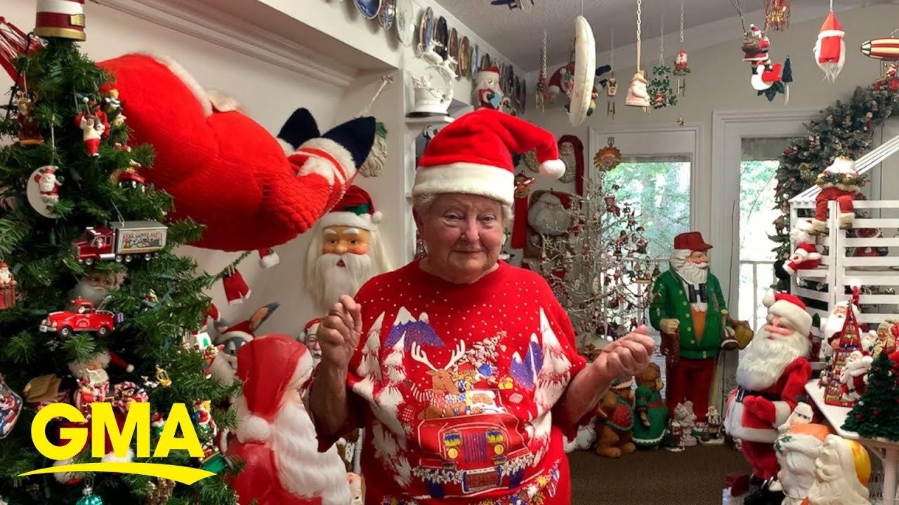 84-year-old woman brings festive holiday cheer all year with her
