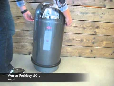 wesco pushboy 50 l youtube. Black Bedroom Furniture Sets. Home Design Ideas