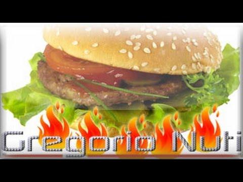 Come cucinare un hamburger alla fiamma youtube