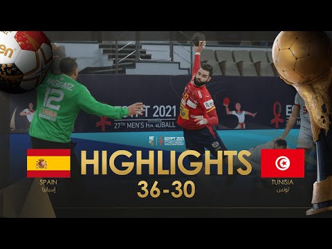 Highlights: Spain - Tunisia | Group Stage | 27th IHF Men's Handball World Championship | Egypt2021