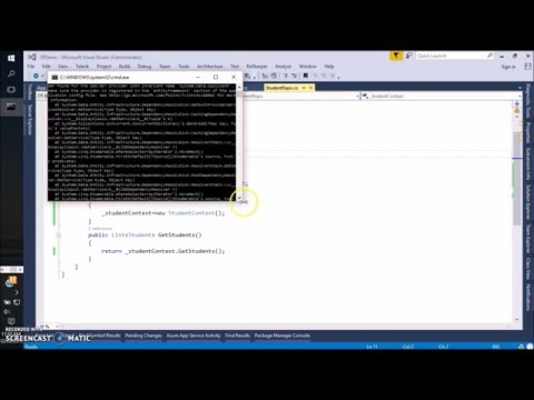 NTier Architecture Using Entity Framework Code First For Existing Database Part 2