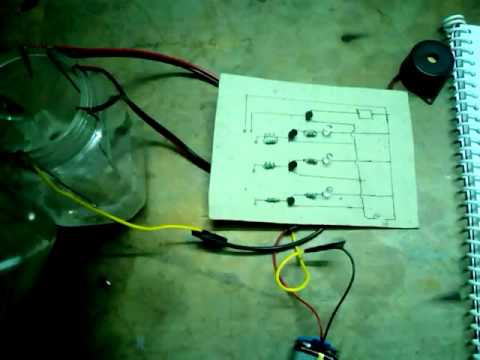 Simple Science Project in tamil-Automatic water level indicator system