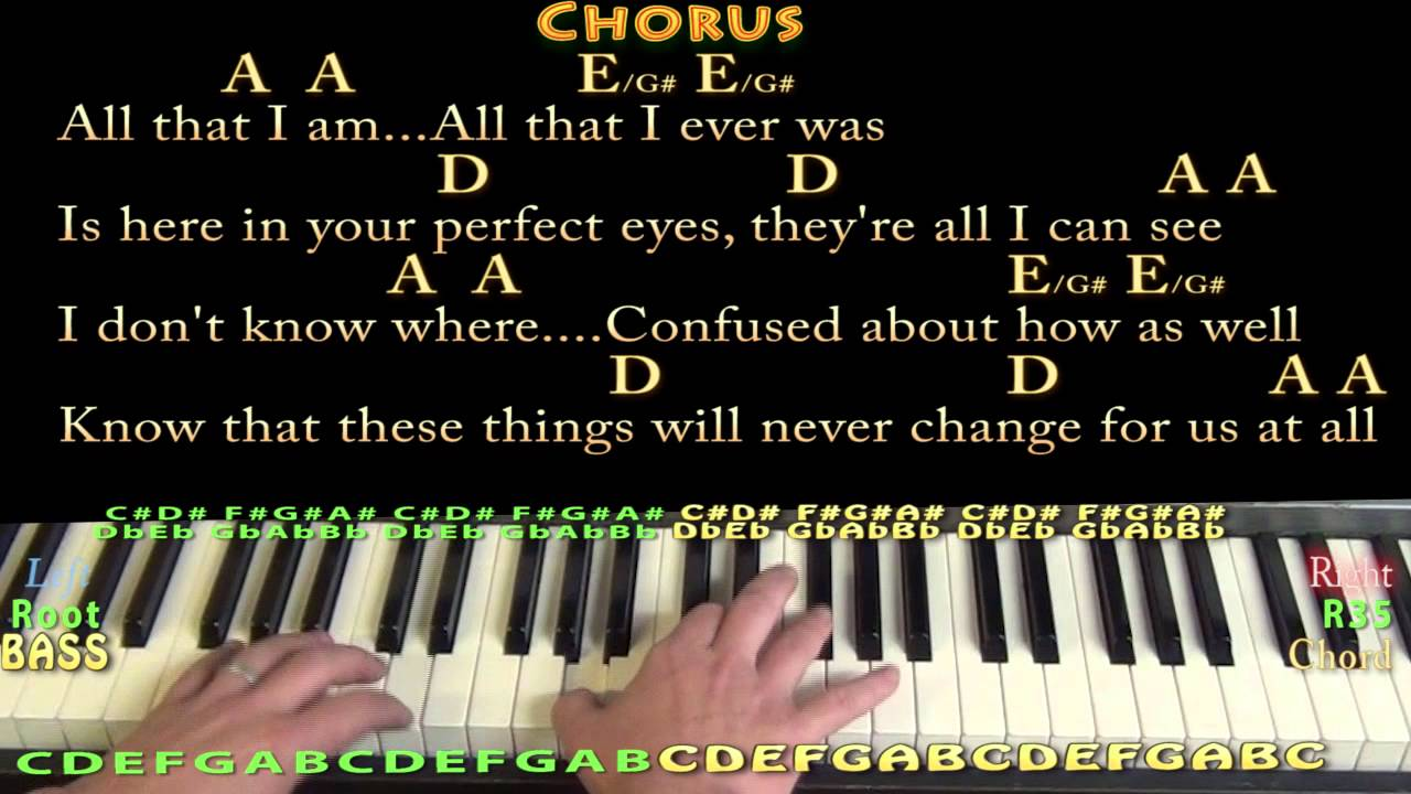Guitar chords chasing cars