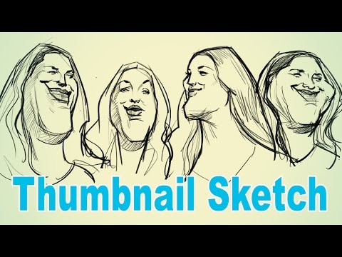 The Thumbnail Sketch - Caricature Drawing
