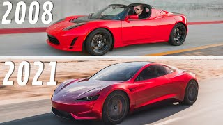 2008 VS 2021 Tesla Roadster | Here's How Much the Tesla Roadster Has Improved in 13 Years!