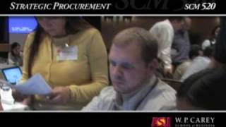 Strategic Procurement Course Overview - ASU's W. P. Carey School
