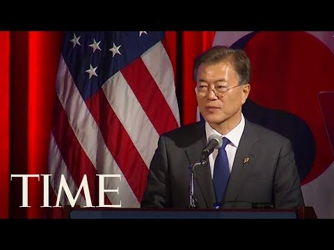 South Korea President Moon Speaks At U.S. Chamber Of Commerce About A People-Centered Economy | TIME
