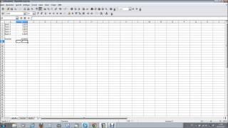 Eine einfache Rechnung in Open-Office-Calc